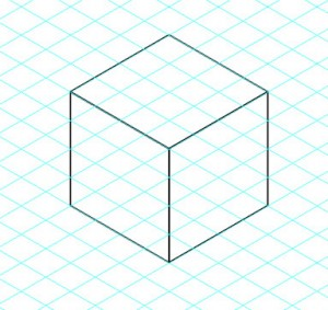 Cube in Isometric Perspective