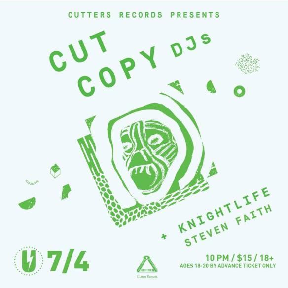 Cut Copy DJs with Knightlife and Steven Faith at U Street Music Hall