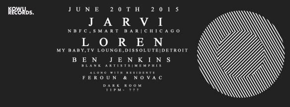 Kowli Presents: Loren & Jarvi at The Dark Room, Baltimore