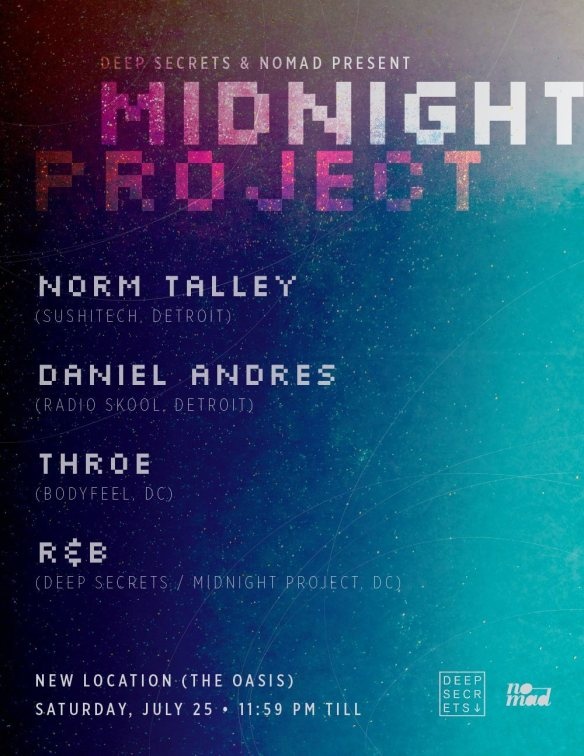 Midnight Project Featuring Norm Talley, Daniel Andres, Throe & R&B at Secret Warehouse Location