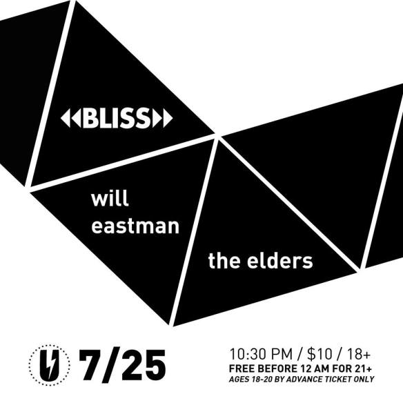 BLISS with Will Eastman & The Elders at U Street Music Hall