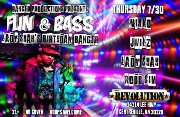 Fun & Bass at The Revolution, Centreville