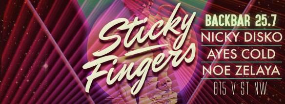 Sticky Fingers Presents: Nicky Disko, Ayes Cold and Noe Zelaya at Backbar