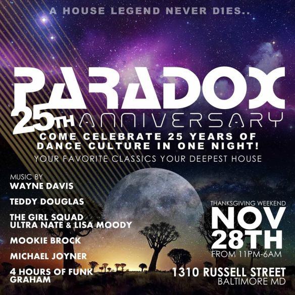 Saturday November 28 - Paradox 25th Anniversary