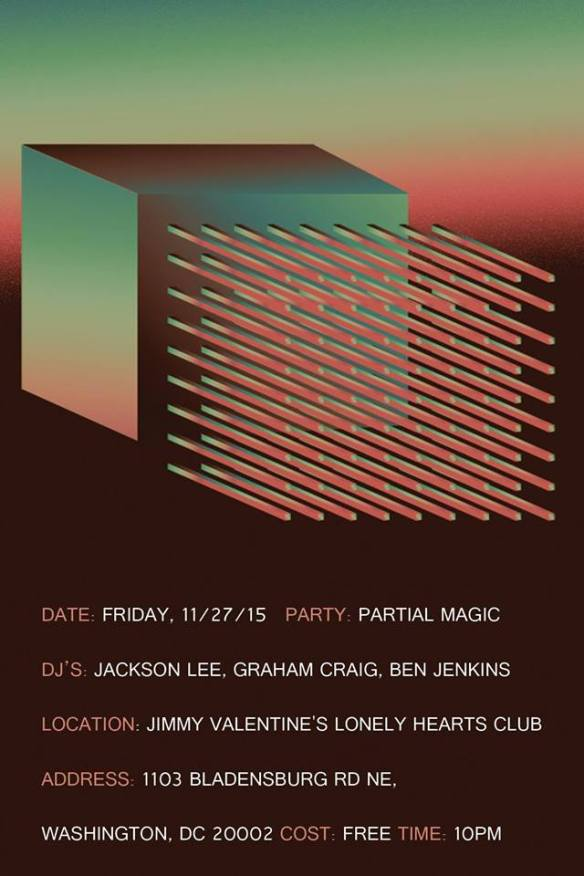 Partial Magic with Jackson Lee, Graham Craig and Ben Jenkins at Jimmy Valentine's Lonely Hearts Club