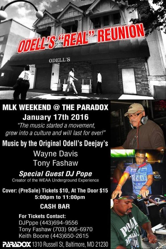 The Real Odell's Reunion with Wayne Davis, Tony Fashaw & DJ Pope at The Paradox, Baltimore