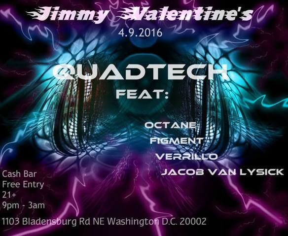 QuadTech feat. Octane, Figment, Verrillo & Jacob Van Lysick at Jimmy Valentine's Lonely Hearts Club