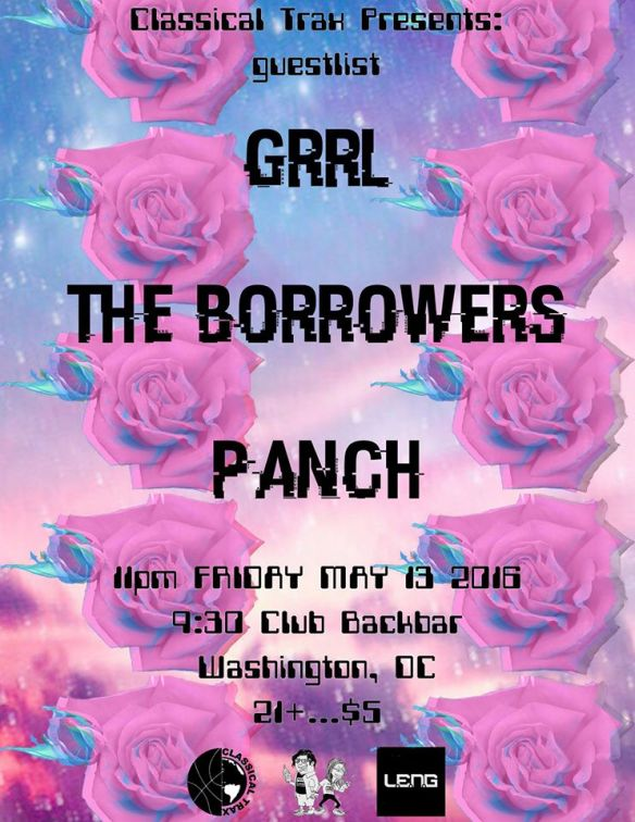 Classical Trax x Guestlist with Grrl, The Borrowers and Panch at Backbar