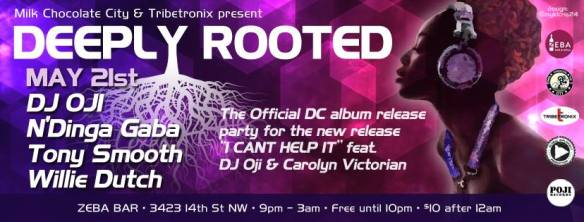 Deeply Rooted with DJ Oji, N'Dinga Gaba, Tony Smooth & Willie Dutch at Zeba Bar
