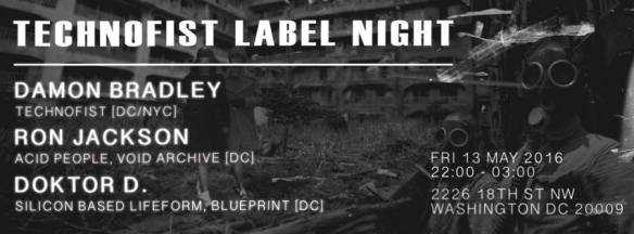 TechnoFist Label Night with Damon Bradley, Ron Jackson and Doctor D at Dr. Clock's Nowhere Bar