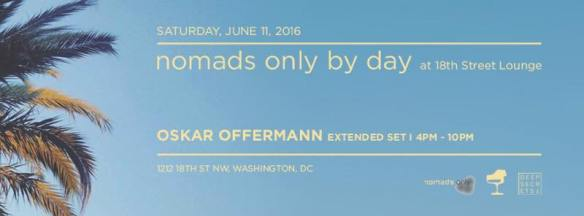 ESL Saturdays with Nomads Only by Day featuring Oskar Offermann, Natasha Diggs, Trev-ski, Farid and Chris Brooks at Eighteenth Street Lounge