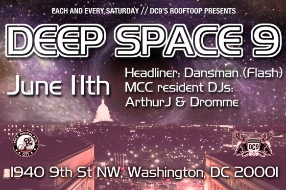 Deep Space 9 Happy Hour with Dansman, ArthurJ & Dromme at DC9 Nightclub