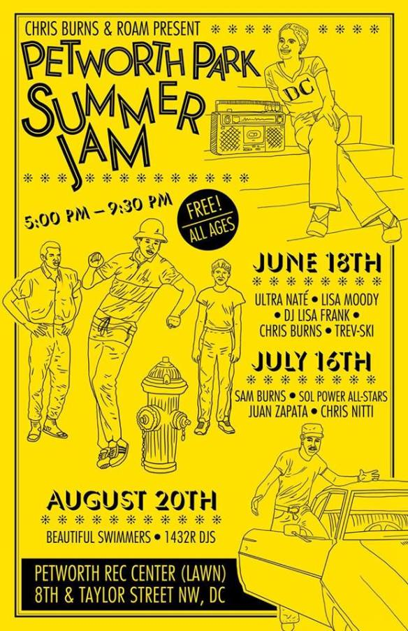 Petworth Park Summer Jam Part III with The Beautiful Swimmers and the 1432R DJs at Petworth Recreation Center
