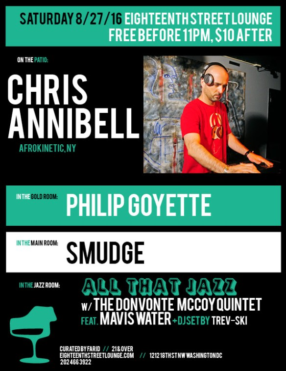 ESL Saturday with Chris Annibell, Philip Goyette, Smudge and Trev-ski at Eighteenth Street Lounge