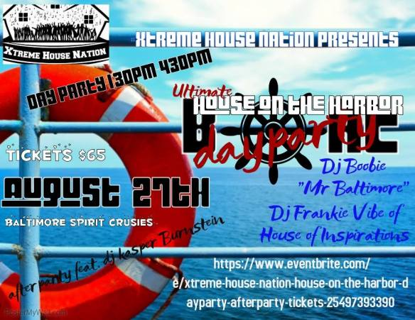 Day Party & Afterparty - House on the Harbor, Spirit Cruises, Baltimore