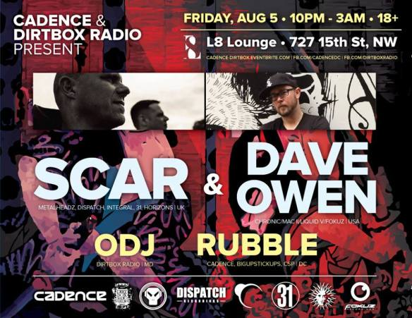 Cadence and Dirtbox Radio Presents Scar & Dave Owen at L8 Lounge