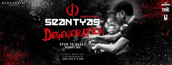 Synthesis presents: Sean Tyas (open to close) at U Street Music Hall
