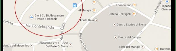Madame Google Maps mi sa dire dove sta Via di Beccheria a Siena?