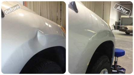 dent repair right fender