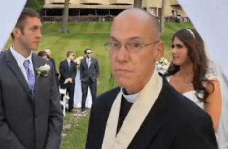 deadstate angry minister at wedding