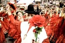 Desfile en el barrio de Gran Poder, La Paz