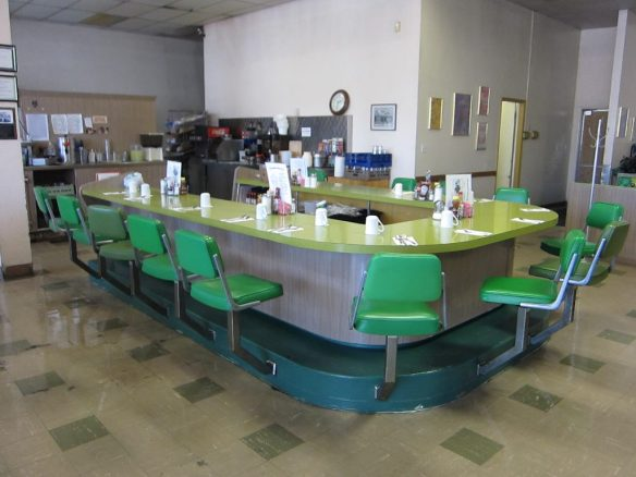 lunch counter of Chicken Pie Shop, Fresno