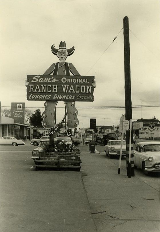 Sam's Ranch Wagon sign