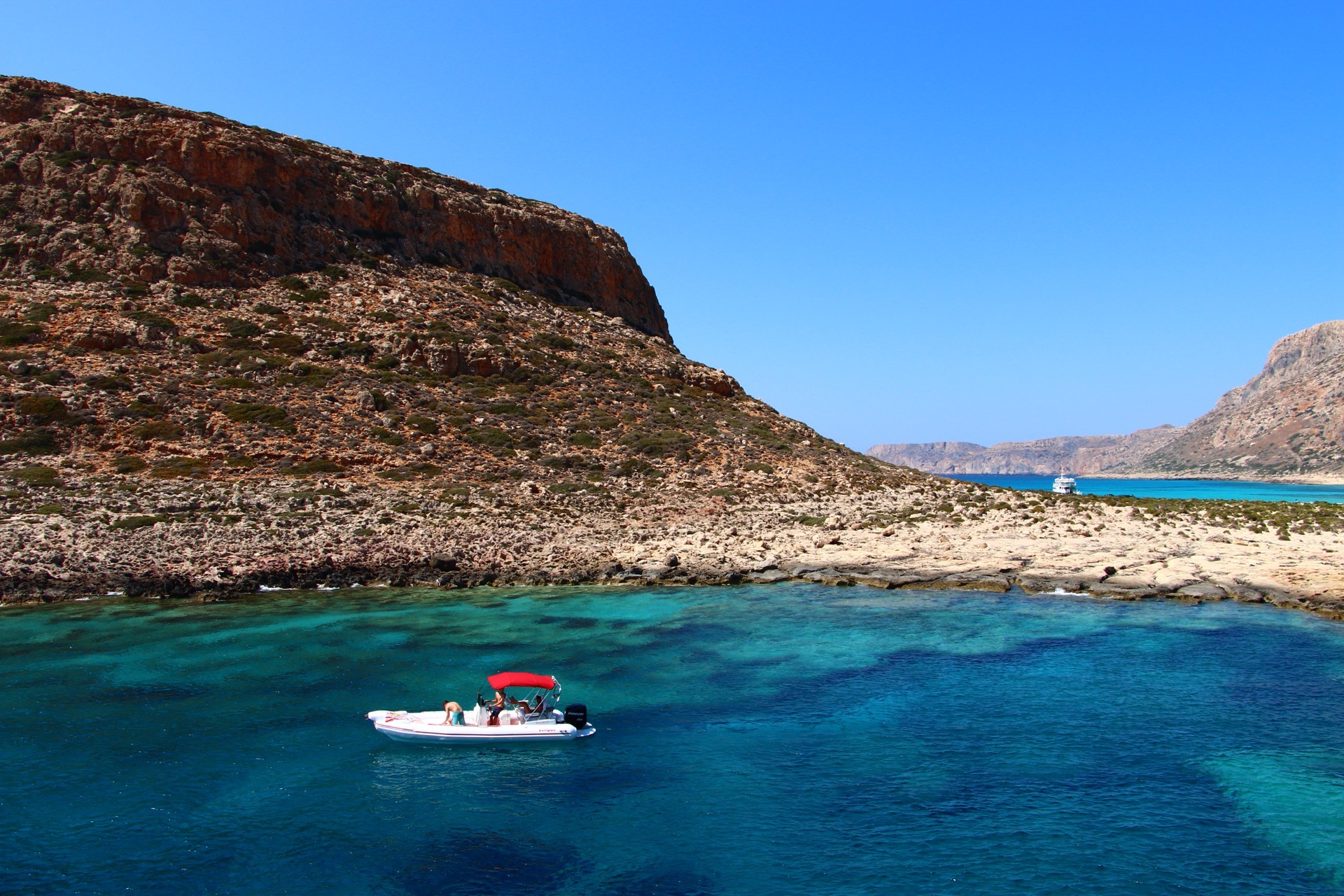 Picture perfect landscapes approaching Balos Beach Lagoon, Crete.