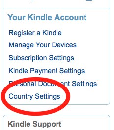 Change your country settings