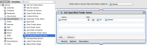 Get Specified Finder Items