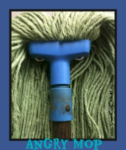 Angry mop chores around the house