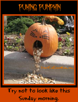 Halloween puking pumpkin DearKidLoveMom.com