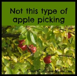 Not this type of apple picking DearKidLoveMom.com