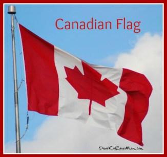 Canadian Flag DearKidLoveMom.com