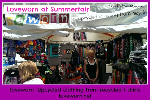 Loveworn.net. upcycled clothes from recycled t-shirts. DearKidLoveMom.com at Summerfair Cincinnati 2014