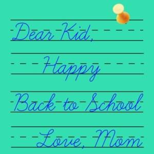 Happy Back to School-- DearKidLoveMom.com