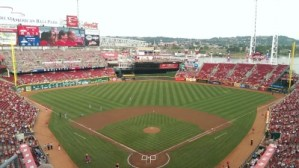 Cincinnati Reds Major League Baseball I will never be able to mow my lawn in such great patterns DearKidLoveMom.com