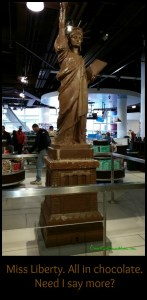 Miss Liberty entirely out of Hershey Chocolate. Las Vegas. DearKidLoveMom.com