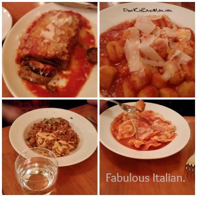 Fabulous Italian dinner in Pittsburgh. Girls' Trip! DearKidLoveMom.com