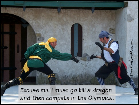 The modern pentathlon is the only sport that comes complete with a plot. DearKidLoveMom.com
