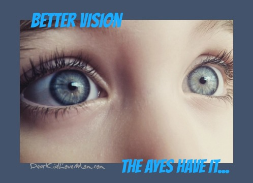 """Now researchers have decided to tackle some of the harder vision challenges like macular degeneration and glaucoma. They """"ayes"""" have it. DearKidLoveMom.com"""