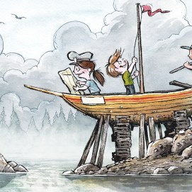 Mike_Deas_Illustration_Kids on Boat