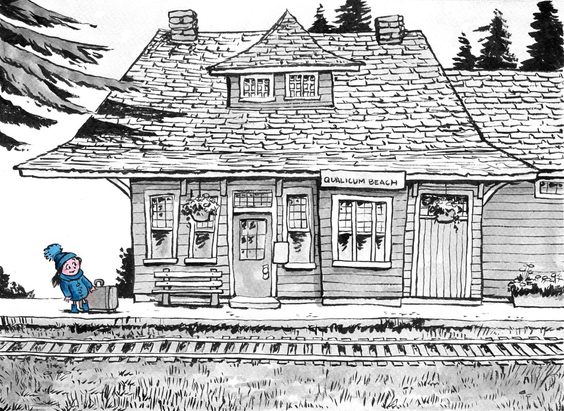 Mike_Deas_Illustration_QualicumBeachTrainStation