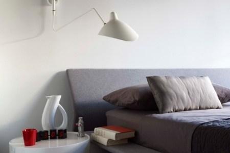 leselampe design mechanisch bewegbar separat schaltbares leselicht am bett schlafzimmer