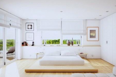schlafzimmer design ideen wei%c3%9f eichen holz bett gestell