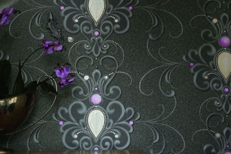 wandgestaltung mit design tapeten ornamental wandschmuck steine