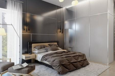schlafzimmer farbideen grau un kombination modern