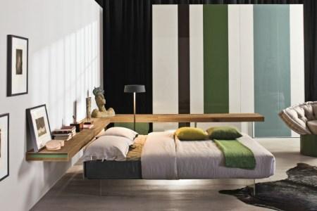 schlafzimmer farbideen gruen weiss holz natur