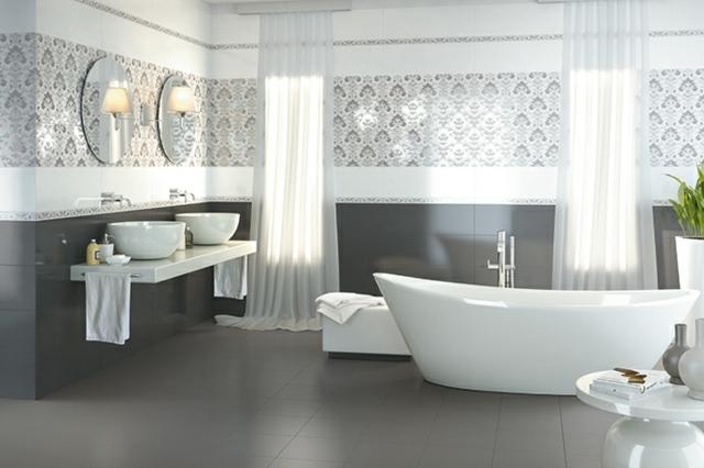 formidable tapis salle de bain rose 5 carrelage salle de bain ... - Salle De Bain Carrelage Gris Et Blanc