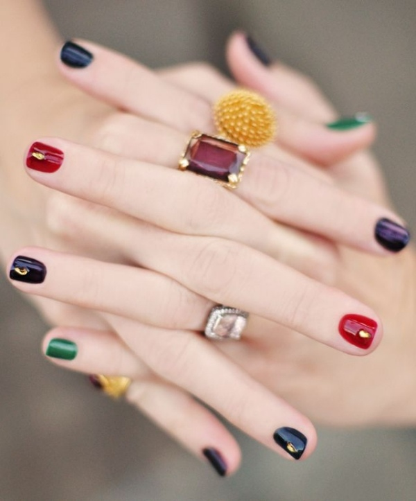 bijoux ongles nail art tendance ongles couleurs
